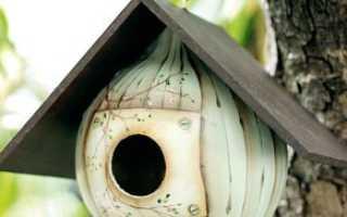 Как сделать для птиц скворечник из подручных материалов своими руками: чертежи и размеры
