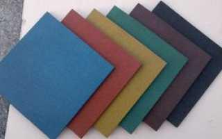 Дачная резиновая плитка: сфера применения резиновой плитки, ее технические характеристики