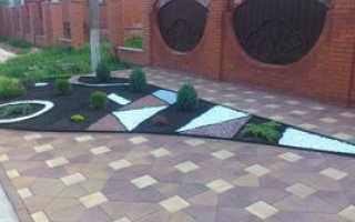 Тротуарная плитка во дворе частного дома: подготовка, этапы работ, фото