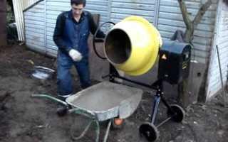 Бетономешалка самодельного изготовления: двигатель и емкость от стиральной машины