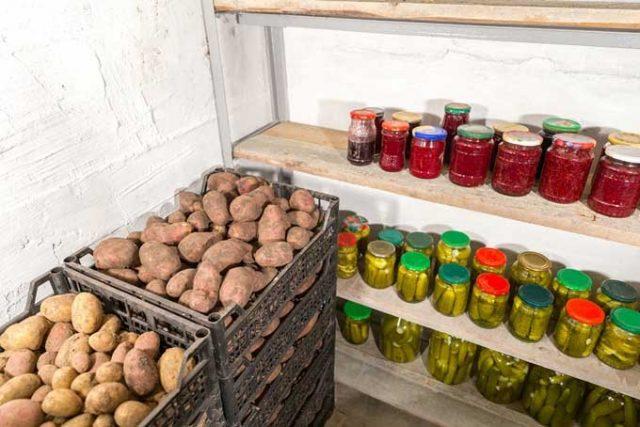 Независимо от того, где именно будут хранить картофель, место должно быть подготовлено заранее