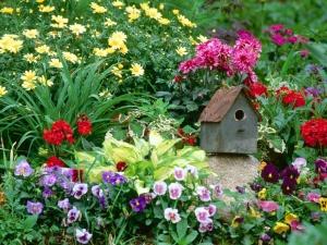 Декоративное украшение цветника