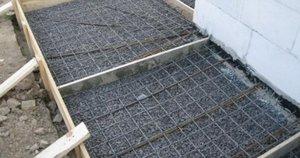 Арматурная сетка поможет усилить прочность плитки.
