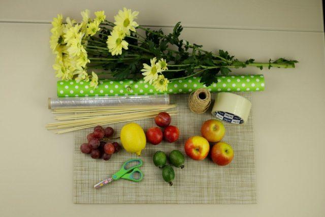 Основные элементы фруктового букета