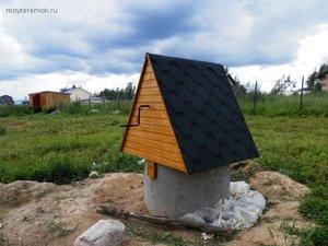 Как построить домик для колодца
