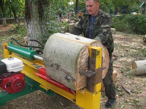 Использование дровокола