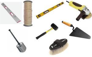 Перечень материалов и инструментов для укладки тротуарной плитки своими руками