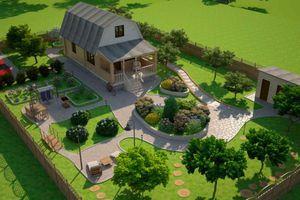 Описание принципов создания проекта ландшафтного дизайна участка перед домом