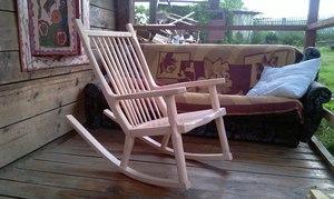 Самодельное кресло качалка