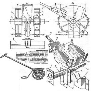 Описание процесса сборки своими руками сеялки разбрасывателя для газонной травы