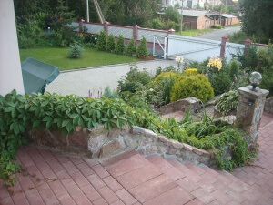 Украшение территории около дома стелющимися кустарниками