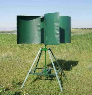 Простая конструкция самодельного ветрогенератора